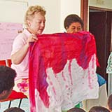 Praying for children with special needs in orphanages and schools in Fiji