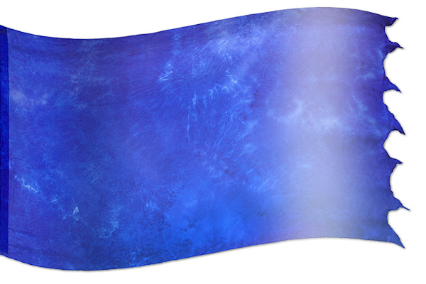 "The design ""Seven-fold Spirit Blue"" in hand crafted silk"